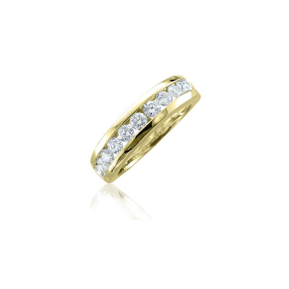 14K Yellow Gold Diamond Wedding/Anniversary Channel Set Ring Band (0.95 Carat)