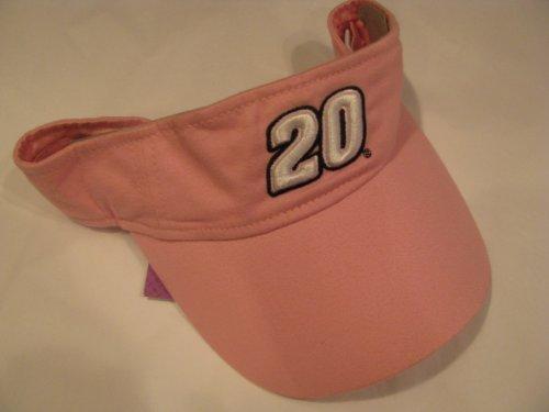 (Vintage Tony Stewart #20 Pink Ladies Winners Circle Visor One Size Fits Most OSFM)