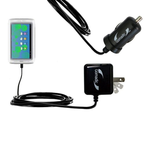 The Essential Gomadic Car and Wall Accessory Kit for the Tabeo Tabeo 7 - 12v DC Car and AC Wall Charger Solutions with TipExchange