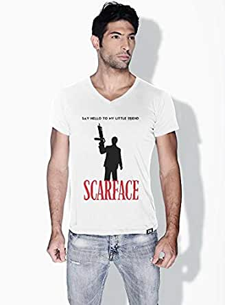 Creo Scarface Movie Posters T-Shirts For Men - M, White