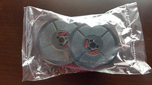 Bobina de doble cinta para máquina de escribir Olivetti Lettera 22 24 32 Studio 45 D82, color negro y rojo, de smco
