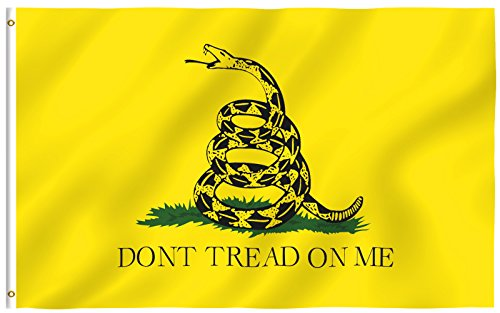 ANLEY [Fly Breeze] 3x5 Foot Don't Tread On Me Gadsden Flag - Vivid Color and UV Fade Resistant - Canvas Header and Double Stitched - Tea Party Flags Polyester with Brass Grommets 3 X 5 Ft (Dont Tread)
