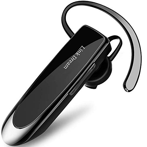 Bluetooth Earpiece Link Dream Wireless Headset with Mic 24Hrs Talktime Hands-Free in-Ear Headphone Compatible with iPhone Samsung Android Smart Phones, Driver Trucker (Black) (Iphone Headphones 2 Dollars)