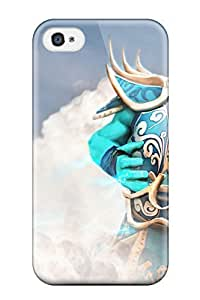 Art Fashion Black PC DIY Case for iPhone 4 Generation Back Cover Case for iPhone 4S with Irregular Figure