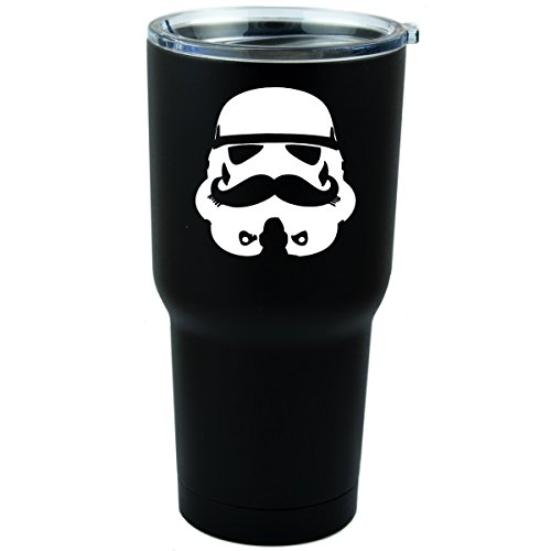 Stormtrooper Mustache Inspired Thermos Container product image