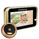 Retekess TS101 Video Doorbell Wireless WiFi Doorbell Camera Remote Control Doorbell Peephole 720P