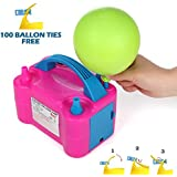 Party Zealot Electric Balloon Inflator Air Pump Dual Balloons Blowers US Standard Plug for Balloon Garland, Balloon Arch, Balloon Column Stand, and Balloon Decoration