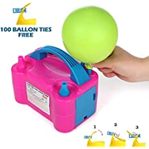 Party Zealot Electric Balloon Inflator Air Pump Massive Balloons Blower US Standard Plug for Balloon Arch, Balloon Column Stand, and Balloon Decoration