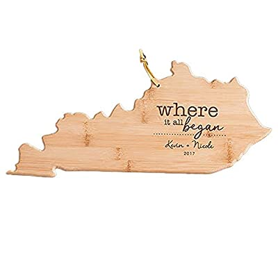 Engraved Where It All Began Kentucky State Cutting Board, Bamboo, Personalized