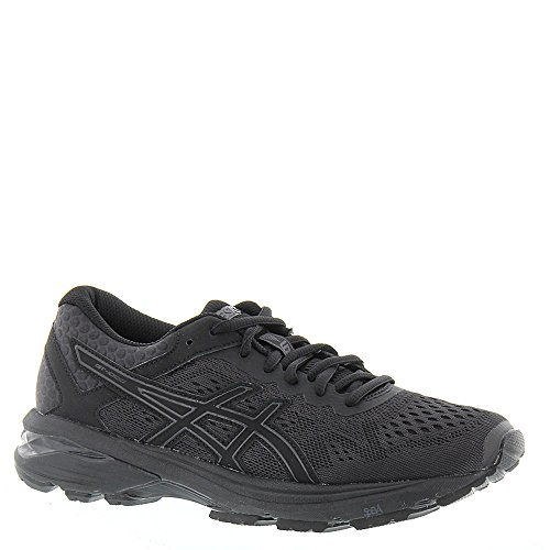 Image of ASICS GT-1000 6 Running Shoes - Black/Black/Silver - Womens - 6