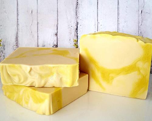 GOLDEN GARDENIA Handmade Artisan Goat Milk Soap - 5 oz Moisturizing Body Bar, Pretty Floral Soap, Luxury Soap, Cold Process Scented Soap- Handmade Gift for Him or Her
