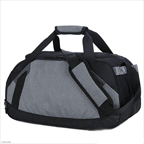 Yangjiaxuan With Shoes Travel Portable Duffel Bag Outdoor Sports Large Capacity Fitness Yoga Bag (Color : Gray)