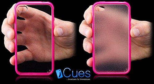 Apple iPhone 4 / 4S | iCues TPU pare-chocs avec fond transparent blanc | [Protecteur d'écran, y compris] protecteur de feuille transparente Temps clair de gel de silicone Housse étui de protection cou