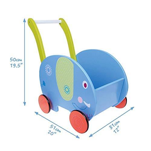 ... 1 como empuje a lo largo de juguete, elefante azul movilidad Walker 1-3 años, Walker madera Kid/Pull en Kid Walker niños madera, 4 ruedas andador para ...