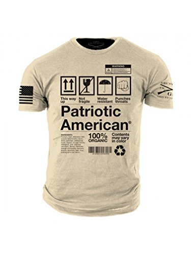 Grunt Style Patriotic American Men's T-shirt (X-Large)