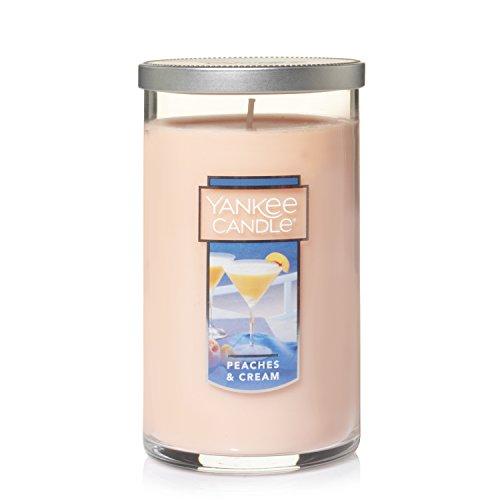 Yankee Candle Medium Perfect Pillar Candle, Peaches & (Peach Pillar Candle)