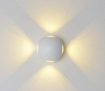 Amazon.com: Lámpara de pared LED impermeable para exteriores ...