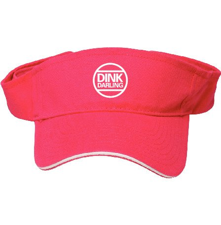 SelahV Fashion Pickleball Sports Fan Women's Sun Visor by Fashionable Hat For Tennis Court - 100% Cotton, Breathable & Adjustable - UV Protection For Face & Eyes - Dink Darling Logo - Pink