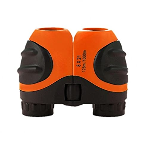 Orange Kids Binoculars 8 X 21 for Bird Watching, Watching Wildlife or Scenery, Game, Mini Compact and Image Stabilized, Best Gifts for (Scratch Golf Game Gear)