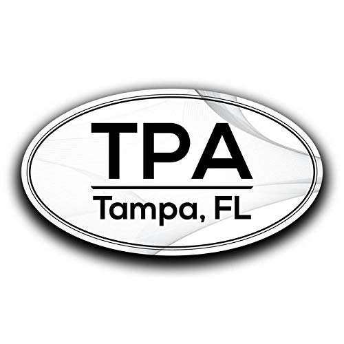 MKS0634 Two 5.5 Inch Decals More Shiz TPA Tampa Florida Airport Code Decal Sticker Home Travel Car Truck Van Bumper Window Laptop Cup Wall