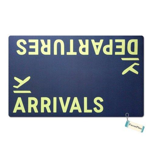 FavorPlus Departures Arrivals Airplane Funny Entrance Custom Doormat Door Mat Machine Washable Rug Non Slip Mats Bathroom Kitchen Decor Area Rug 18x30 ()