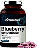 Whole Fruit Blueberry Concentrate 6000mg Herbal Equivalent, 200 Capsules, Rich in Antioxidant, Flavonoids, Polyphenols and Anthocyanins, Non-GMO and Made in USA