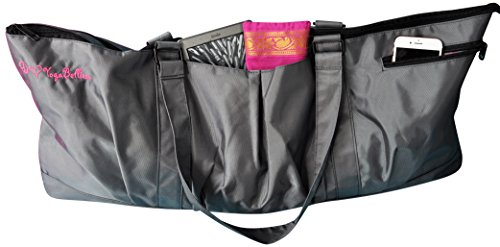 Yogisac® Tasche für Yogamatte, extragroße Sporttasche, umweltfreundlich, mit Mehreren Taschen und Reißverschlüssen, perfekt für Damen mit Yoga-, Pilates-, Bikram-Yoga-, Tanzausrüstung