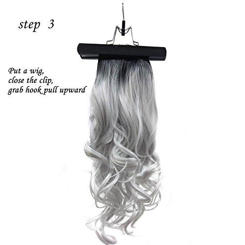 Xingoukeji Dustproof Wig Storage Bag Hair Extension Holder Hair Hanger with Zipper, Black by xingoukeji (Image #6)