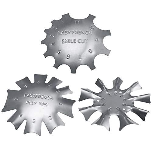 Lurrose Cortador de bordes de manicura de uñas módulo de placa de bricolaje herramienta de corte de línea de sonrisa…