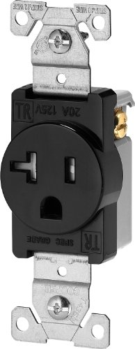 (Eaton TR1877BKBXSP Tamper Resistant Single Receptacle, Black)