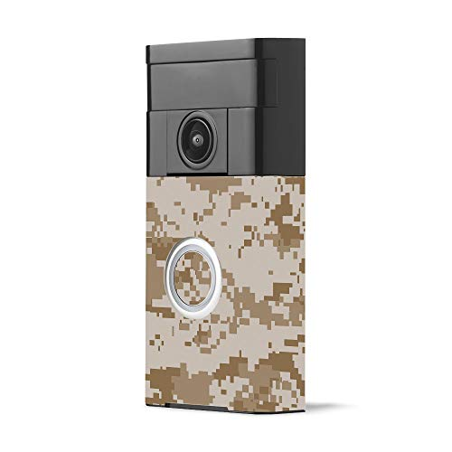 MightySkins Skin for Ring Video Doorbell - Desert Camo | Protective, Durable, and Unique Vinyl Decal wrap Cover | Easy to Apply, Remove, and Change Styles | Made in The USA