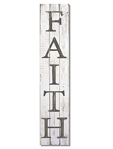 American Woodcrafters Faith Vertical Pine Pallet Sign, 36 x 7.5 inches