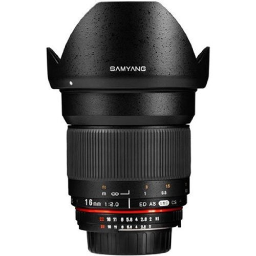 Samyang SY16M-P 16mm f/2.0 Aspherical Wide Angle Lens for Pentax KAF Cameras Style: Pentax, Model: SY16M-PEN, Electronics & Accessories Store by Electronics World