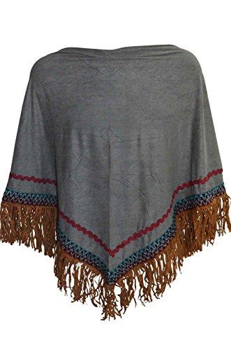 KARL LOVEN - Poncho - capa - para mujer gris