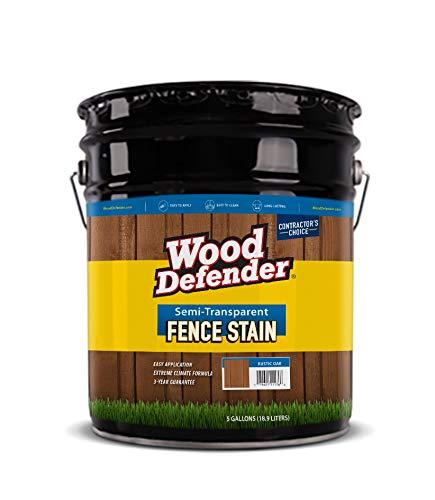 (Wood Defender - Semi-Transparent Fence Stain- Desert Sand - 5 Gallon)