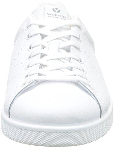 VictoriaDeportivo Basket Piel - botas de caño bajo Unisex adulto Blanco (Blanco)