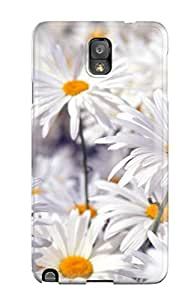 MitchellBrownshop Best 6740107K72733483 Hot Tpye White Flowers Case Cover For Galaxy Note 3