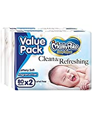 MamyPoko Baby Wipes Regular, 80 Count, (Pack of 2)