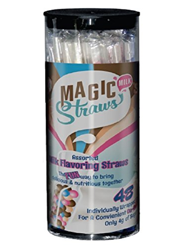 Milk Magic, Milk Flavoring Straws, Variety Pack, 48 Ct, Possible Flavors, Chocolate, Strawberry, Vanilla Milkshake, Cookies & Cream, Strawberry Banana, Wild Berry, Orange Cream, Banana, and Chocolate Peanut Butter