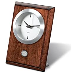 Arizona State Sun Devils Rosewood Desk Clock