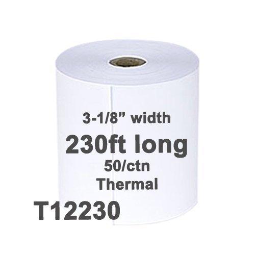 (50) Thermal Paper Rolls 3 1/8 X 230 Epson TM-T85 TM-T88 T88II T88III IV T88V T20