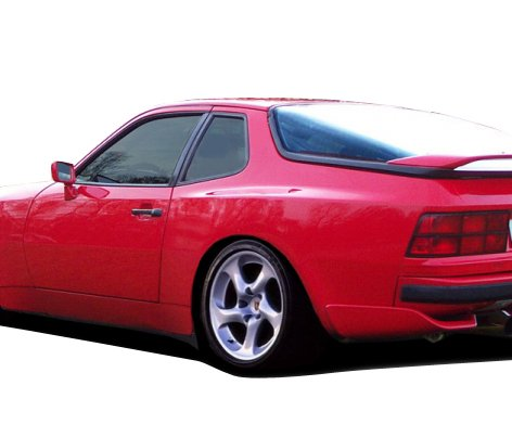 Duraflex ED-RTM-531 Turbo 944 Look Rear Fender Flares - 2 Piece Body Kit - Compatible For Porsche 924 1977-1988 ()