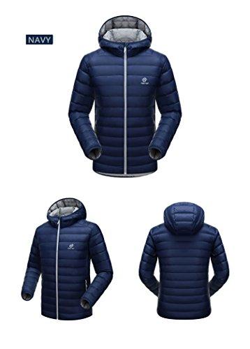 All'aria Leggero Scuro Campeggio Resistente Uomini Sport Piumino Puffer Cappotto Antivento Blu Acqua Emansmoer Anatra Aperta Trekking vTH5qcw