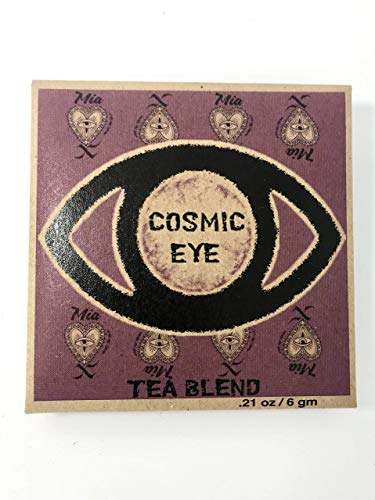Cosmic Eye Third Eye Opener Intention Tea - Reiki Infused and Blessed Herbal Tea for Pineal Gland in Re-usable Muslin Tea Bag w/ Loose Leaf Jasmine Lemongrass Lavender Dandelion Root, Makes 32 oz.