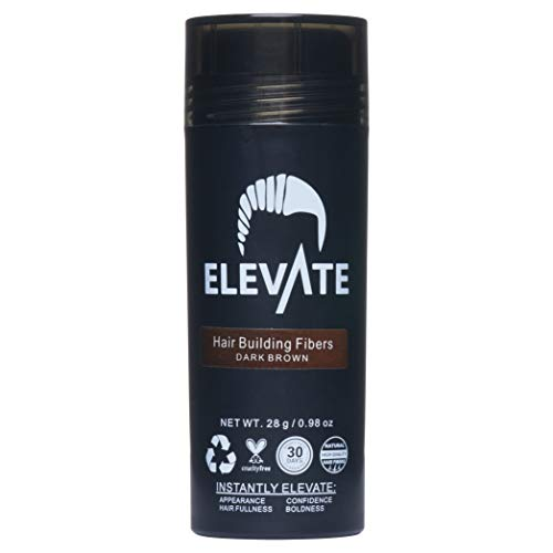 ELEVATE Hair Fibers 100% Natural Keratin Hair Fibers Instantly Thickens Thinning or Balding Hair for Men and Women - Natural Hair Loss Concealer 28g 0.98oz (Best Hair Loss Fibers)