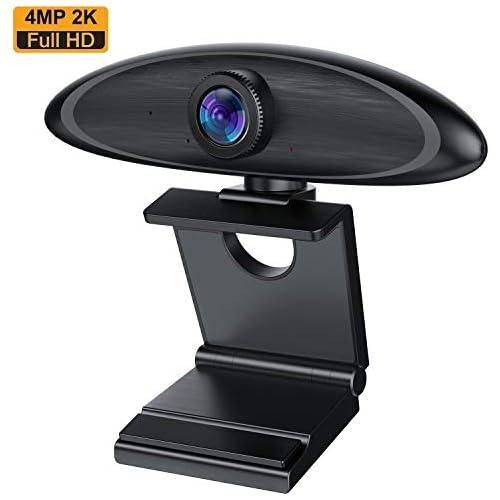 chollos oferta descuentos barato Webcam Cámara Web con Micrófono PC Estéreo 4MP 2K Full HD Webcam USB 2 0 3 0 Streaming Cámara Reducción de Ruido para Videollamadas Grabación Conferencias con Clip Giratorio