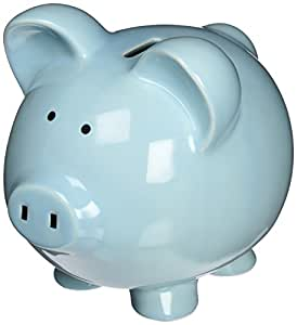 Child to Cherish Large Piggy Bank, Blue