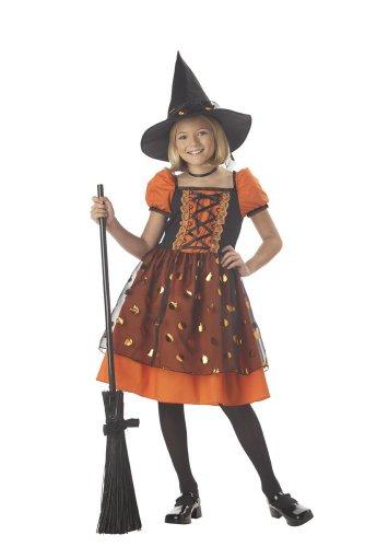 [Pretty Pumpkin Witch Girls Costume Size Medium] (Child Pretty Pumpkin Costumes)