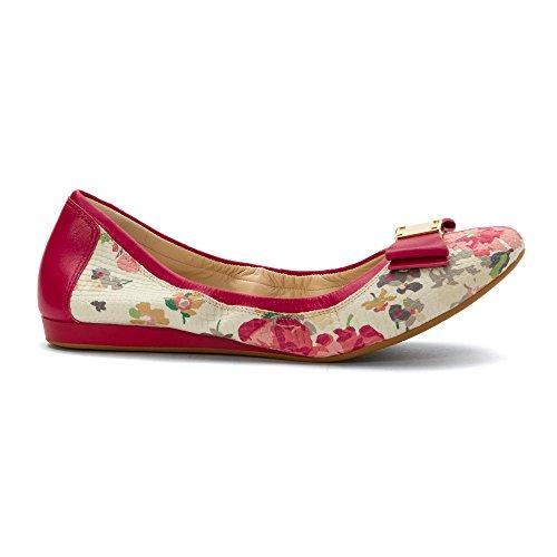 Ballet Cole Haan Tali plana del arco Pink Floral Snake Print