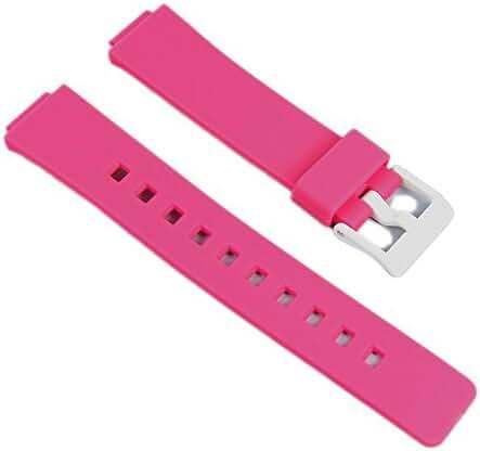 Casio watch strap watchband Resin Band Magenta LDF-52-4AEF LDF-52 LDF-50